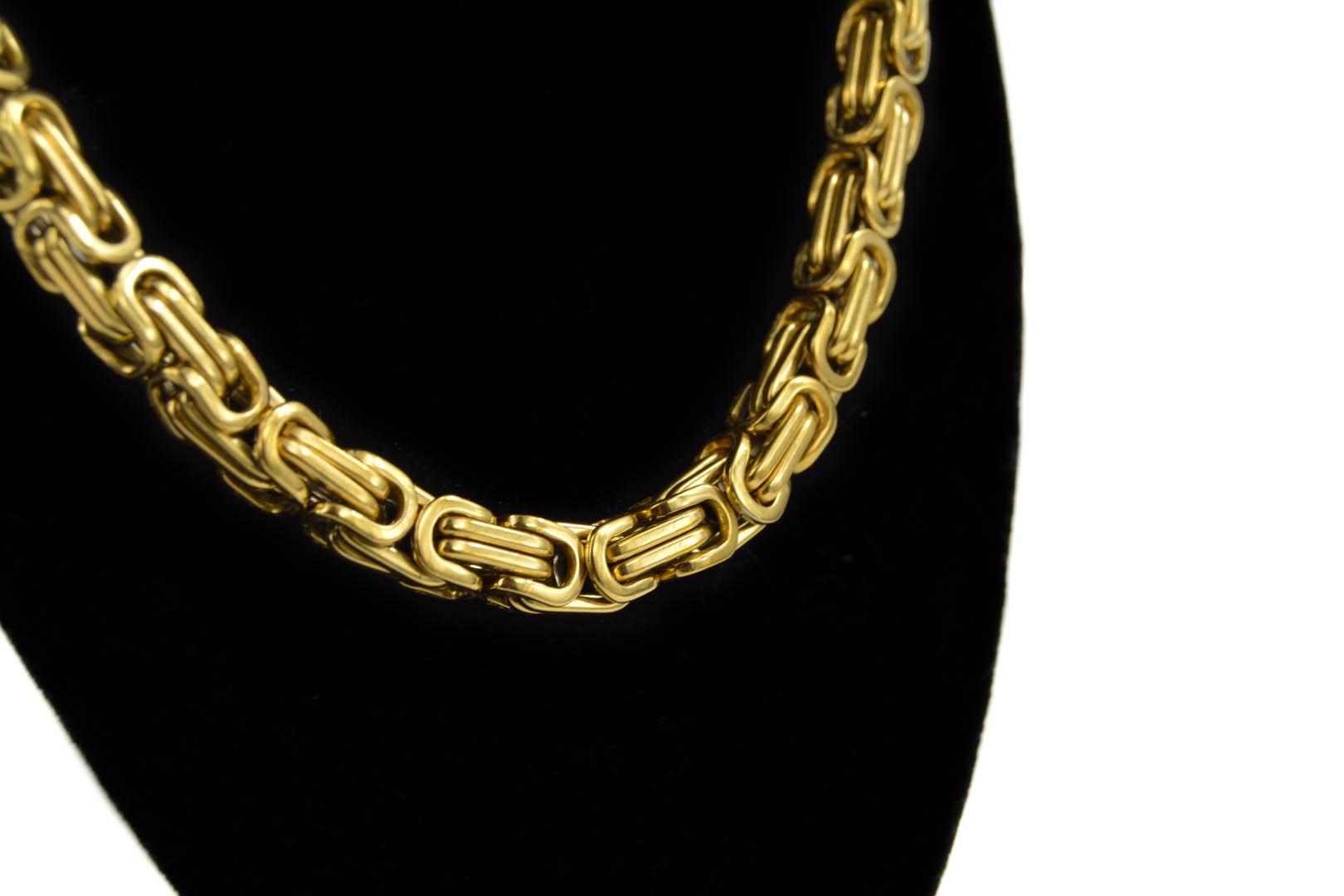 c41e9f77b Zlatá retiazka kráľovský vzor - chirurgická oceľ - www.goldencykas.sk