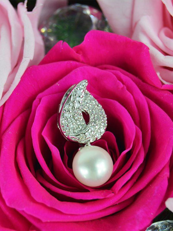 Prívesok perla - pravé striebro
