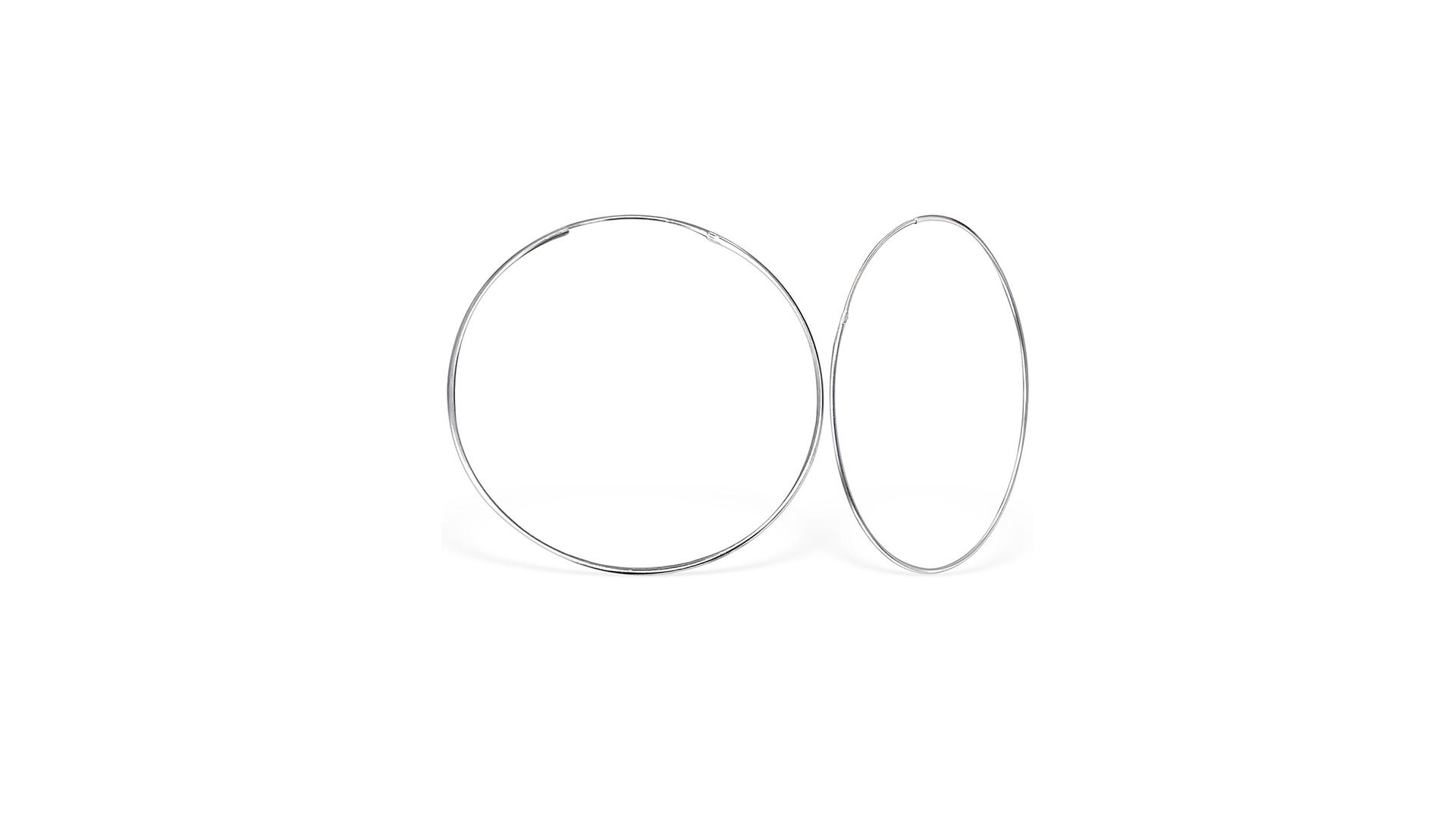Náušnice-kruhy-34567cm-pravé-striebro