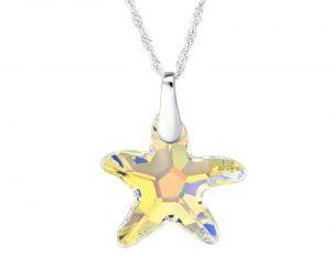 Swarovski náhrdelník hviezda