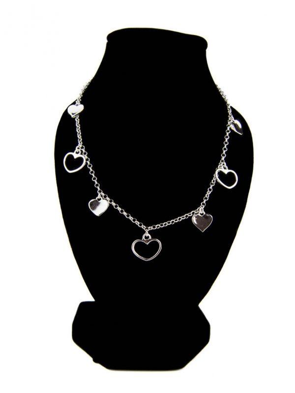 náhrdelník so srdiečkami