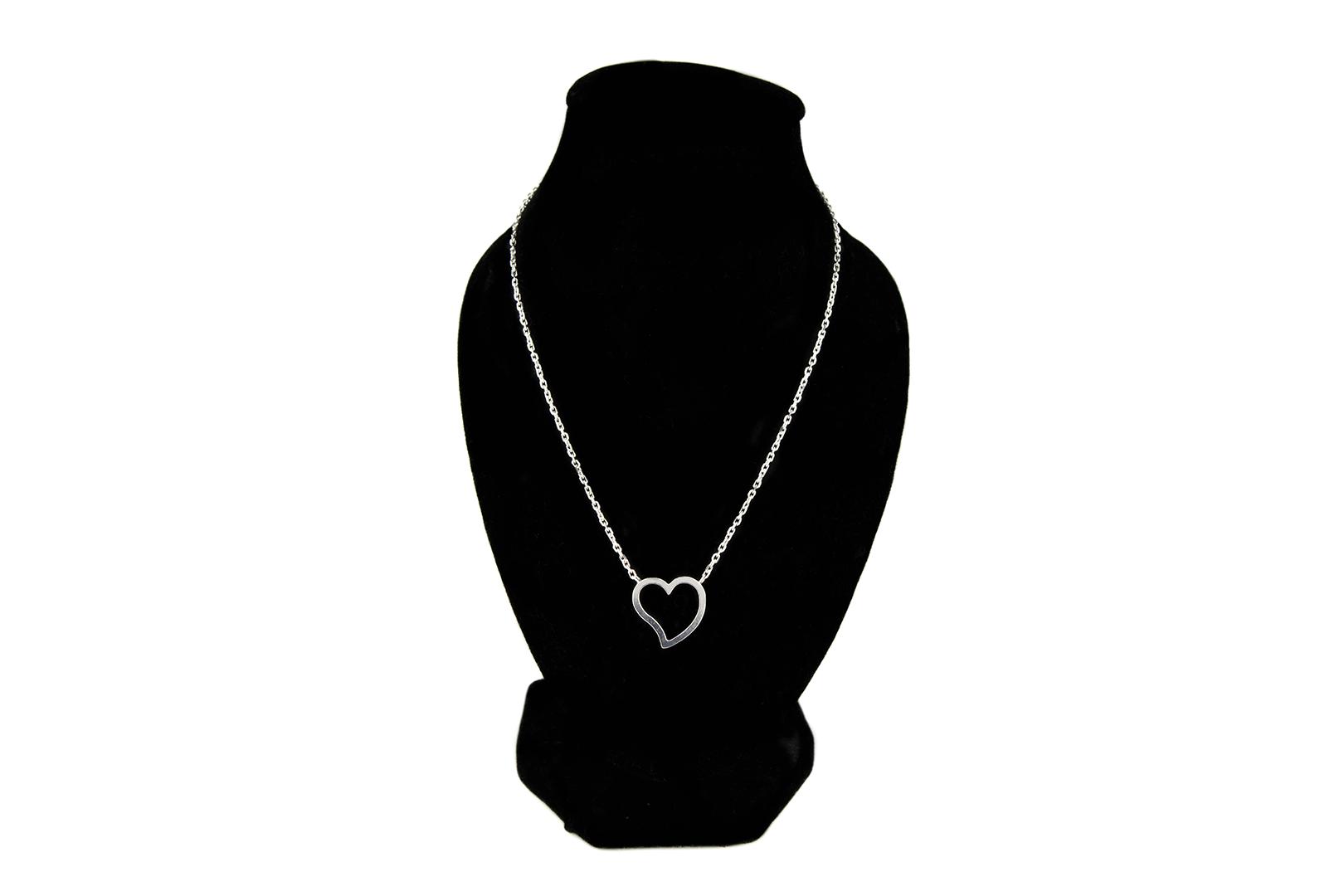 Náhrdelník v tvare srdca - pravé striebro