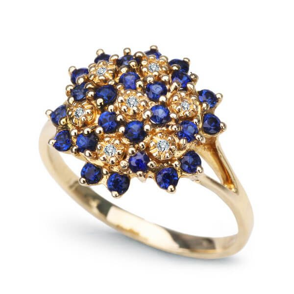 Dalia golden royal blue