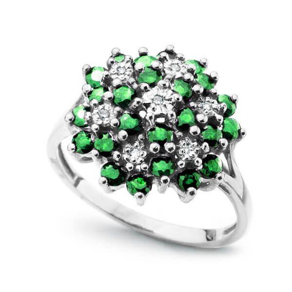 Dalia white green