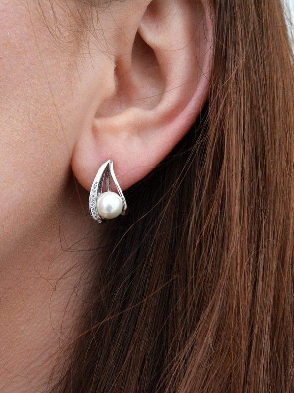 Perlové náušnice - pravé striebro