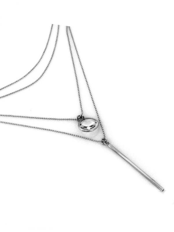 Trojvrstvový náhrdelník so zirkónom
