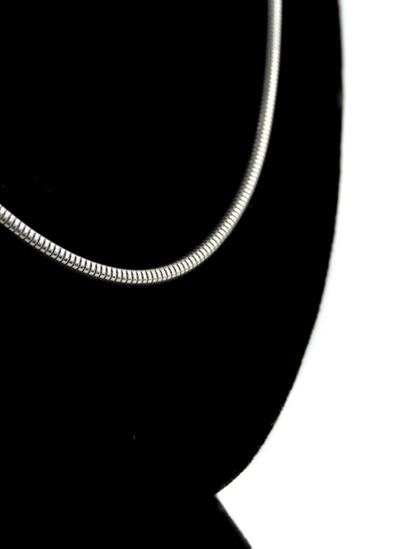 Strieborná dámska okrúhla retiazka