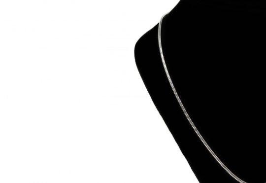 Náhrdelník srdiečko vyplnené zirkónmi - pravé striebro