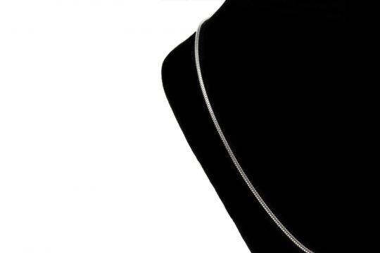 Náhrdelník trojité srdiečko so zirkónmi - pravé striebro