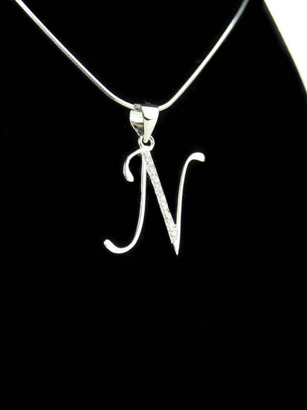 Náhrdelník s písmenom N - pravé striebro