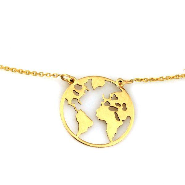 Zlatý náhrdelník gold world