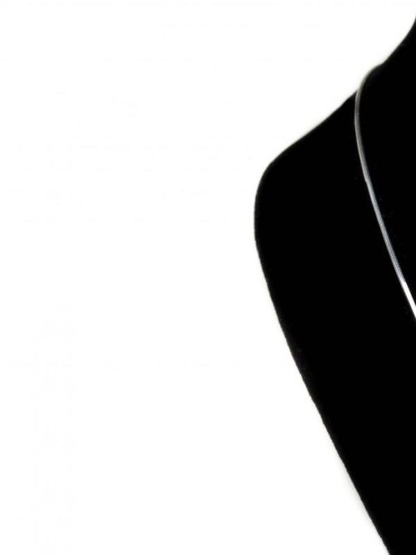 Náhrdelník srdičko ozdobené zirkónmi - pravé striebro