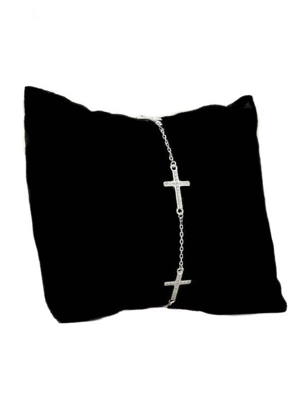 Náramok s krížikmi - pravé striebro