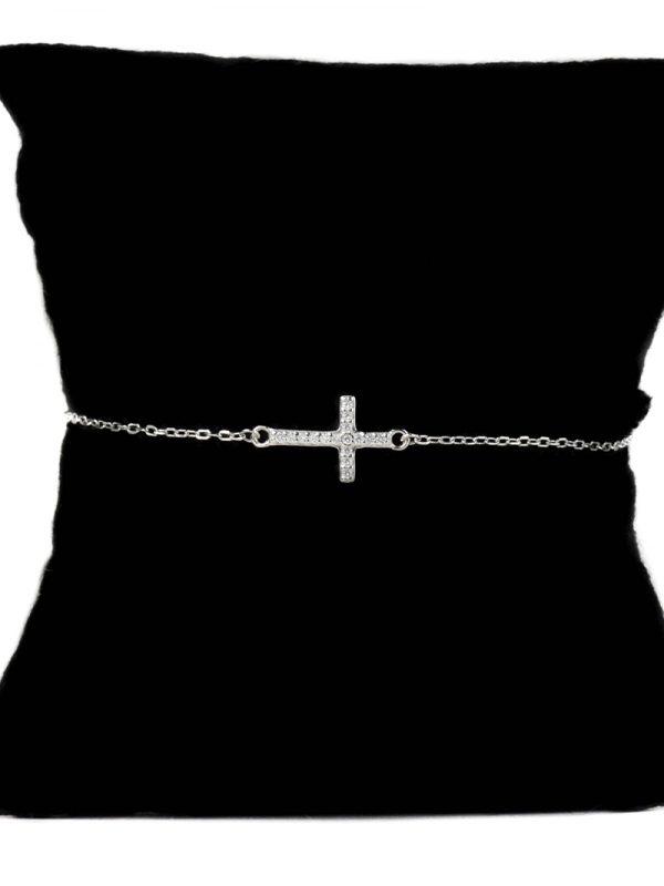 Náramok s krížikom - pravé striebro