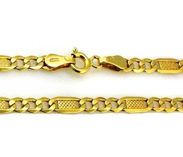 Zlatá Figaro retiazka 5mm