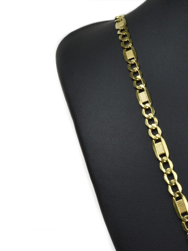 Zlatá retiazka figaro 5mm