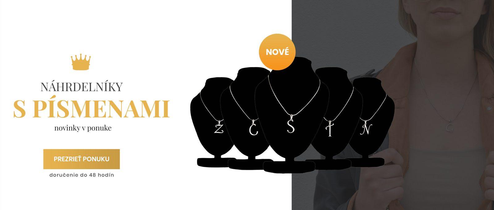 náhrdelniky s písmenami